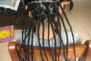 Underneath dreads Auckland half head